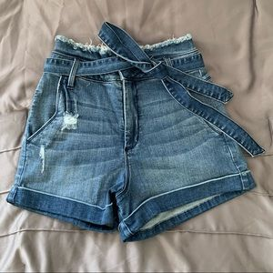 Bebe High Waisted Jean Shorts